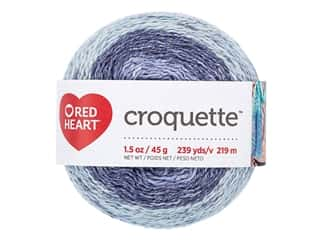 yarn & needlework: Red Heart Croquette Yarn 239 yd. Ethereal
