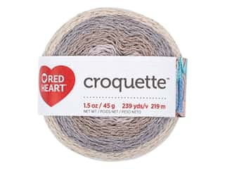 yarn: Red Heart Croquette Yarn 239 yd. Stonehenge
