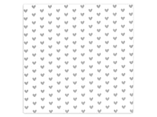 scrapbooking & paper crafts: Bazzill Paper 12 in. x 12 in. Heart Foil Marshmallow White (12 pieces)