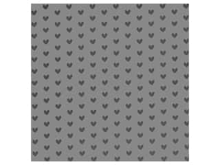 Bazzill Paper 12 in. x 12 in. Heart Foil Rock Candy Gray (12 pieces)