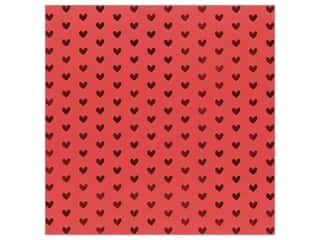 Bazzill Paper 12 in. x 12 in. Heart Foil Lollipop Red (12 pieces)
