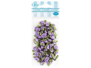 decorative floral: Offray Small Satin Ribbon Roses 40 pc. Light Orchid