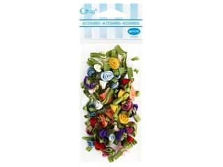 Offray Small Satin Ribbon Roses 40 pc. Multi-Color