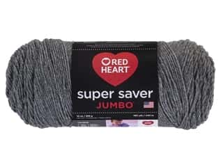 Red Heart Super Saver Jumbo Yarn 482 yd. #0400 Grey Heather