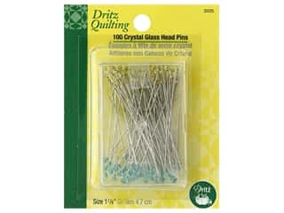 Dritz Pins Crystal Glass Head 1.88 in. 100 pc