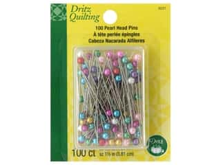 Dritz Pins Pearlized Multi 100 pc
