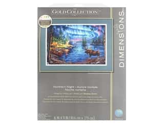 yarn & needlework: Dimensions Counted Cross Stitch Kit 16 x 11 in. Northern Night