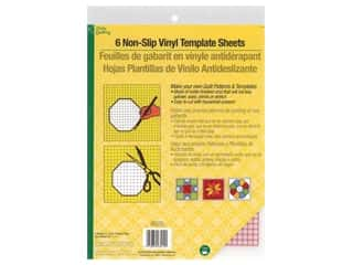 Dritz Plastic Template Sheets 8.5 in. x 11 in. Non Slip Vinyl 6 pc