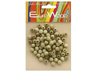 beading & jewelry making supplies: John Bead Wood Bead Round 8 mm Natural