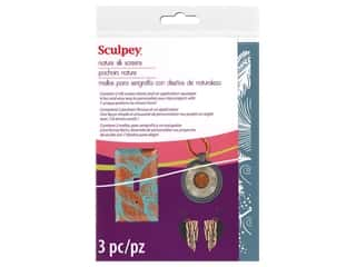 craft & hobbies: Sculpey Clay Tool Silk Screen Set Nature