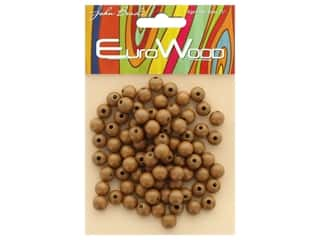 John Bead Wood Bead Round 8 mm Coffee
