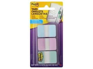 Post-It Note Tabs Printed 1 in. Assorted Gradient