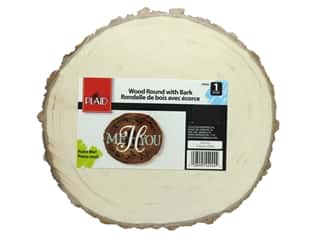 craft & hobbies: Plaid Wood Plaid Wood Rounds With Bark 9 in.