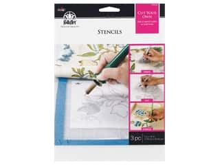 craft & hobbies: Plaid Stencil Plaid FolkArt Stencil 7 in. x 10 in. Blank 3 pc
