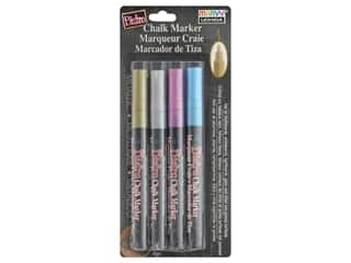 craft & hobbies: Uchida Bistro Chalk Marker Fine Set M Metallic 4 pc
