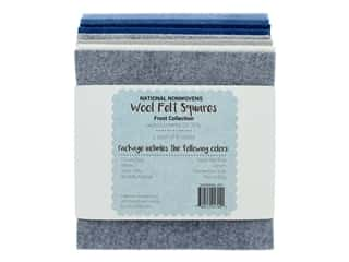 National Nonwovens Wool Felt Squares 20/35% 6 in. x 6 in. Frost Collection