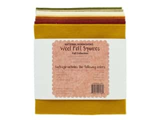 National Nonwovens Wool Felt Squares 20/35% 6 in. x 6 in. Fall Collection