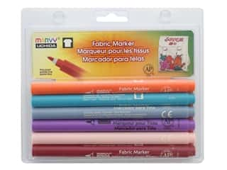 Marvy Uchida Fabric Marker Fine Tip Set 6 pc. Pastel