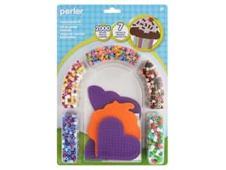 beading & jewelry making supplies: Perler Fused Bead Kit Cupcake & Butterfly 2000 pc