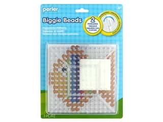 beading & jewelry making supplies: Perler Biggie Beads Clear Pegboards 2 pc.