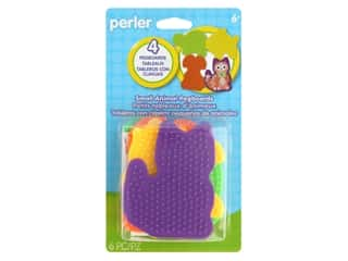 beading & jewelry making supplies: Perler Fused Bead Pegboards Animal 6 pc