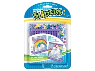 beading & jewelry making supplies: Perler Sliders Bead Kit Rainbow Unicorn