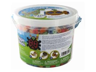 beading & jewelry making supplies: Perler Biggie Beads 1200 pc. Bucket