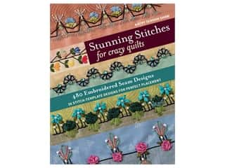 books & patterns: C&T Publishing Stunning Stitches  For Crazy Quilts Book