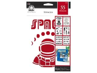 craft & hobbies: Plaid Stencil Folkart Paper 6 in. x 7.75 in. Value Pack Space 6 pc