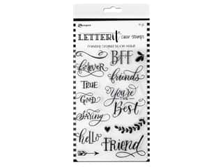 Ranger Letter It Clear Stamp 4 in. x 6 in. Friendship
