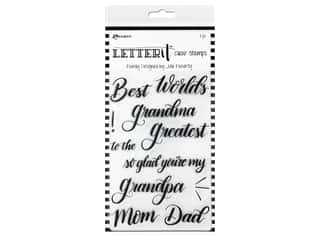 Ranger Letter It Clear Stamp 4 in. x 6 in. Family