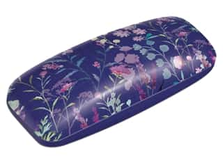 Punch Studio Eyeglass Case Navy Wildflowers