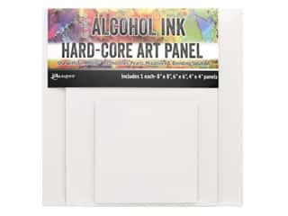 Ranger Tim Holtz Alcohol Ink Hard Core Art Panels Square Set