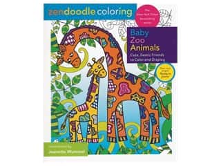 Clearance: Castle Point Zendoodle Baby Zoo Animals Coloring Book