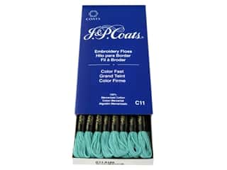 yarn & needlework: J & P Coats Six-Strand Embroidery Floss #6186 Aquamarine Dark (24 skeins)