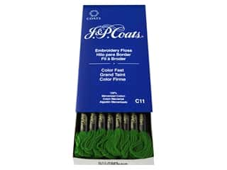 yarn & needlework: J & P Coats Six-Strand Embroidery Floss #6246 Pistachio Green Dark (24 skeins)