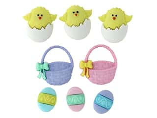 scrapbooking & paper crafts: Jesse James Dress It Up Embellishments Easter Collection Easter Basket