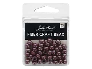 craft & hobbies: John Bead Glass Bead Fiber Craft 7.5 mm Opaque Dark Red 18 gm