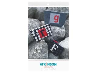 books & patterns: Atkinson Designs Letter Zip Pattern