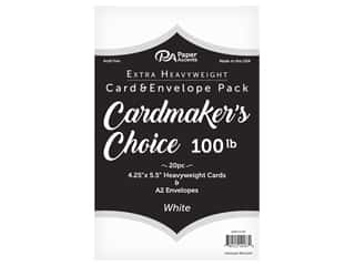 Paper Accents Cardmakers Choice 41/4 x 5 1/2 in. Blank Card & Envelopes 100 lb. White 20 pc.