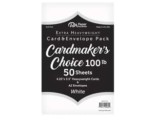 Paper Accents Cardmakers Choice 41/4 x 5 1/2 in. Blank Card & Envelopes 100 lb. White 50 pc.