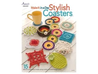 yarn: Annie's Make It In A Day Stylish Coasters Book