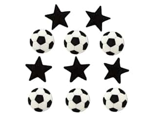 scrapbooking & paper crafts: Jesse James Dress It Up Embellishments Sports Collection Soccer