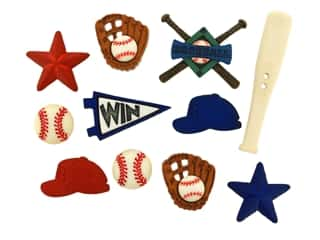 scrapbooking & paper crafts: Jesse James Dress It Up Embellishments Sports Collection Baseball