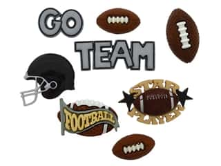 scrapbooking & paper crafts: Jesse James Dress It Up Embellishments Sports Collection Football