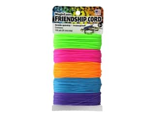 craft & hobbies: Toner MagicLace Friendship Cord Spring 100yd Assorted