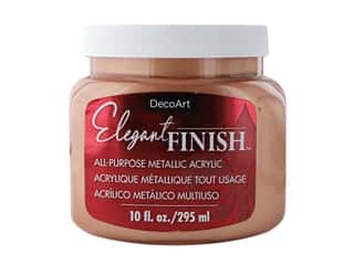 craft & hobbies: DecoArt Elegant Finish Paint 10oz Metallic Rose Gold