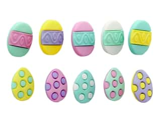 Jesse James Dress It Up Embellishments Easter Collection Painted Eggs