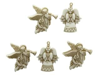 Christmas embellishment: Jesse James Embellishments Christmas Glitter Angels