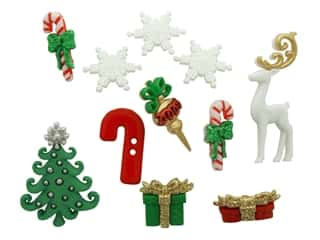 craft & hobbies: Jesse James Dress It Up Embellishments Theme Christmas